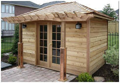 design your own backyard studio cabana pool house guest room or office at build garden office kit