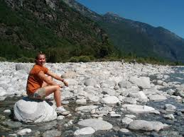 keck geology consortium swiss alps  lindsay rathnow university of illinois rests after helping to measure stream gradients team geomorphology