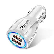 TEQIN <b>18W 3.1A Car Charger</b> Fast Charger 3.0 Universal Dual USB ...