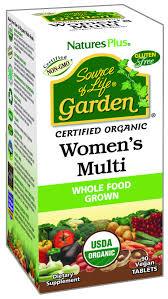NaturesPlus <b>Source of Life Garden</b> Certified Organic Womens ...