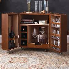leather trunk bar end table bar trunk furniture