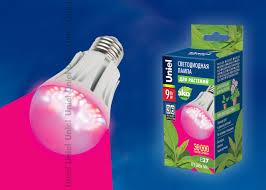 <b>Лампа</b> светодиодная для растений <b>LED</b>-<b>A60</b>-<b>9W</b>/<b>SP</b>/<b>E27</b>/<b>CL</b> ...