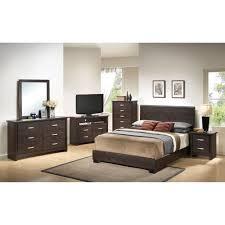 black piece twin bedroom
