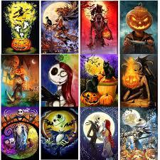Full <b>5D</b> DIY <b>Diamond Painting</b> Halloween Gift Taro Pumpkin ...