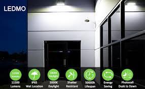 LEDMO 100W <b>LED</b> Wall Pack <b>Light</b>, <b>Outdoor</b> Flood <b>Light</b> ...