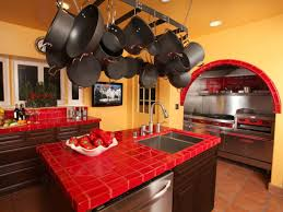 dishy kitchen counter decorating ideas: tile kitchen countertop ideas and picture