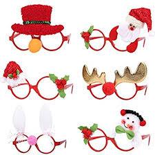ZS-Juyi 6 Pieces <b>Christmas</b> Glitter <b>Party</b> Glasses <b>Christmas</b> ...