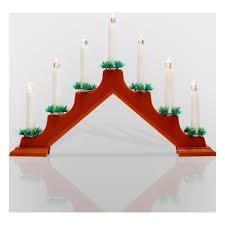 Новогодняя горка свечек 7LED, тепл. белый, пластик красные ...