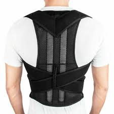 Men <b>Woman Breathable Posture Corrector</b> Support Back Shoulder ...