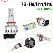 1set dc12 24v 55w 6000k h7 h4 h1 h8 h9 hb3 9012 h3 car led headlight bulb high low beam super bright car styling spotlight