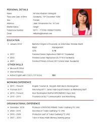resume examples  good example of a resu  axtran    resume examples  good example of a resume for personal details with education and working experience