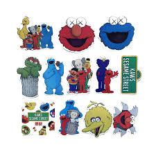 12PCS Creative <b>Cartoon Sesame Street</b> x Kwas Stickers for Laptop ...