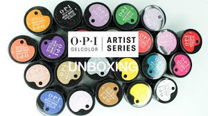 <b>OPI GelColor</b> Artist Series Unboxing - YouTube