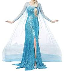 Peachi AE4 Adult <b>Princess</b> Lace <b>Dress</b> Inspire by <b>Frozen Elsa</b>