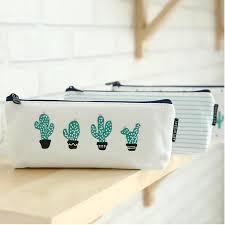 <b>1pcs Cactus Pencil</b> Case Canvas School Supplies <b>Kawaii</b> Stationery ...