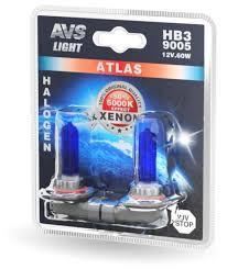 <b>Лампа</b> автомобильная галогенная <b>AVS Atlas</b> A78572S HB3 65W 2 ...