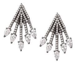 Купить <b>серьги</b>-<b>джекеты черненые с кристаллами</b> Herald Percy в ...
