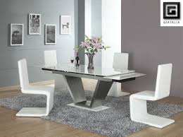 Dining Room Table And Chairs White Amazing Modern Dining Chair And Dining Table With Z Shape And