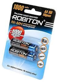 <b>Аккумулятор Ni-Mh 1800 мА</b>·<b>ч</b> ROBITON AA R6 Migno... — купить ...