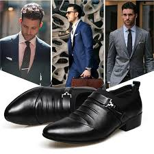 <b>British Men's Leather Shoes</b> Pointed Toe <b>Formal</b> Wedding <b>Shoes</b> ...