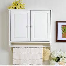 bathroom wall cabinet towel rack