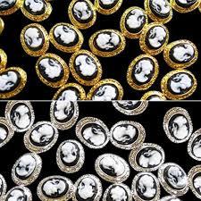 10 шт <b>Винтаж</b> 3D сплава смолы Королевы Леди <b>ногтей</b> советы ...