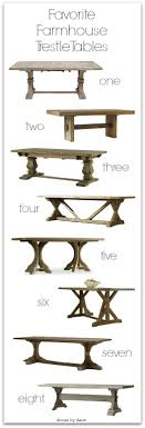 hardware dining table exclusive: a farmhouse style trestle dining table would be a perfect fit for our new kitchen bench seat so ive gone on the hunt for one and am sharing my favorites