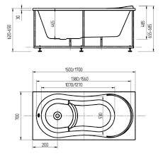 <b>Акриловая ванна Акватек Афродита</b> 170x70 AFR170-0000045 в ...