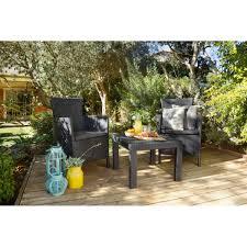 Набор садовой <b>мебели Rosario</b> полиротанг графит: стол и 2 ...