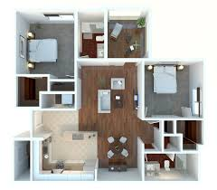 Two  quot   quot  Bedroom Apartment House Plans   Architecture  amp  Design  Mini st Two Bedroom Apartment