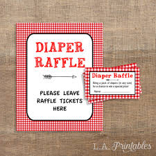 bring a pack red bbq diaper raffle tickets sign red gingham baby shower bring a pack of diapers invite insert diy printable instant