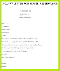inquiry letter hotel reservation samplebusiness letter examples    inquiry letter hotel reservation