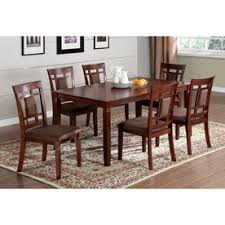 hardware dining table exclusive: furniture of america montclair dark cherry dining set with rectangular dining table