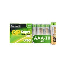 Батарейки <b>GP Super</b> AAA/LR03/24A алкалин., 10 шт/уп. GP24A-B10
