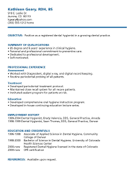 chronological resume sample for dental hygienist position   eager        professional registered dental hygienist cv objectives and sample a part of under professional resumes