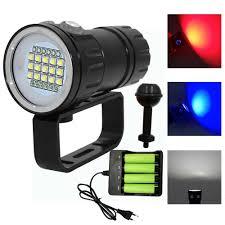 <b>LED</b> Photography Video Diving Flashlight 15x <b>XM</b>-<b>L2</b> white +6x XPE ...