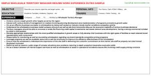 territory manager job title whole territory manager resume
