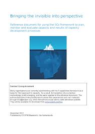 evaluating the performance of an organization better evaluation bringing the invisible into perspective reference document for using the 5cs framework to plan monitor and evaluate capacity and results of capacity