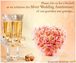 25th Anniversary Invitation Wording | 25th Wedding Anniversary ...