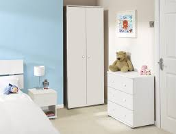 fancy kids bedroom with blue wall paint idea and white cupboard and white bedside table with bedroom white furniture kids