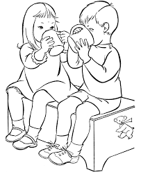 Small Picture Coloring Page Of Friends Helping Friends Coloring Coloring Pages