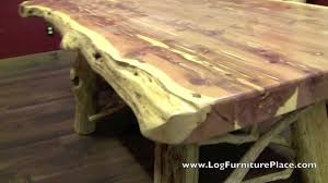 Log Dining Room Tables Red Cedar Log Dining Table From Logfurnitureplacecom Youtube