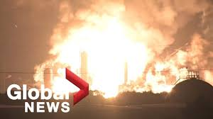 Massive fire and explosions rock Philadelphia oil refinery - YouTube