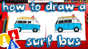 How To Draw A Summer <b>Surf Bus</b> - Replay Live Stream - YouTube