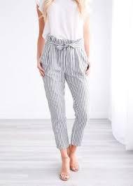 <b>Hot</b> Selling Women <b>Striped</b> Long Pants High Waist <b>New</b> Pencil ...