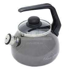 <b>Чайник эмалированный</b> Vitross Bon appetit мокрый асфальт <b>со</b> ...