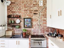 brick kitchen pinterest abdfbdbafbcjpg showcase of beautiful and creative exposed brick wall kitchen designs