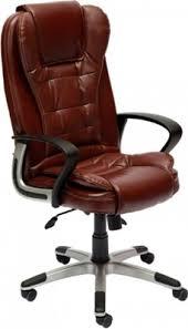 Офисное <b>кресло Tetchair BARON</b> (<b>кож/зам</b>, коричневый ...
