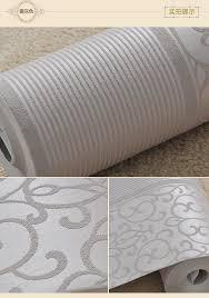 silver wallpaper for living room aliexpresscom buy new silver gray non woven flocking simple striped wa