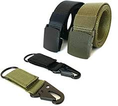 <b>Nylon Military Tactical</b> Men Belt 2 Pack <b>Webbing</b> Canvas <b>Outdoor</b> ...